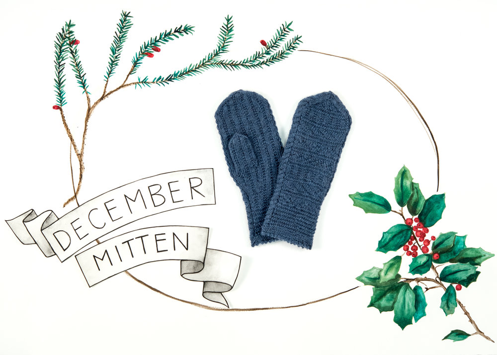 KW Year of Mittens December Mitten in The Fibre Co. Cumbria Fingering