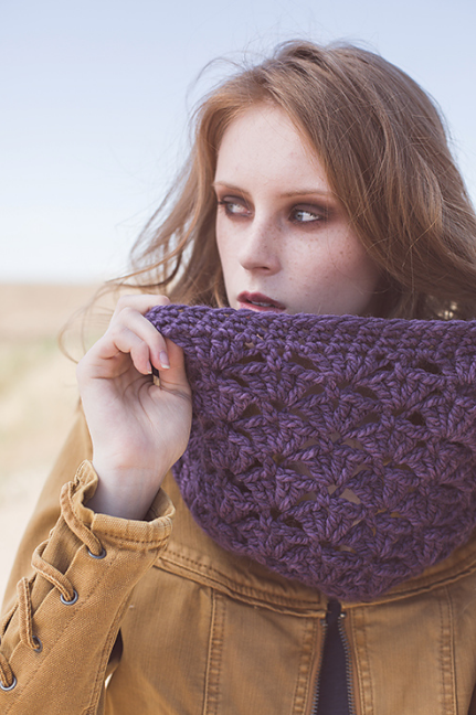 Lacuna Cowl by Courtney Kelley in The Fibre Co. Tundra