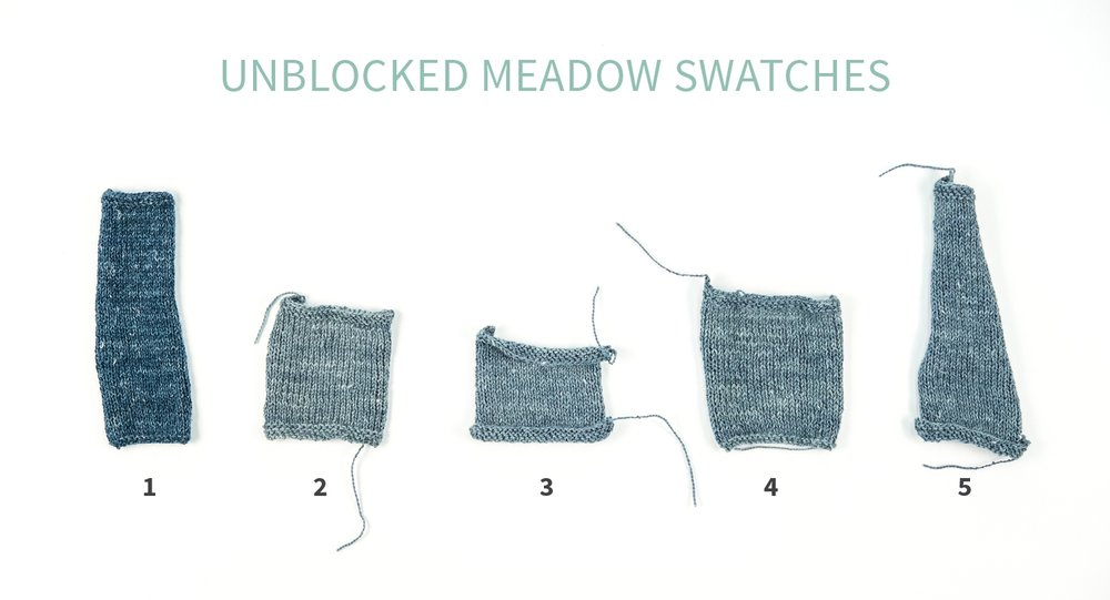 KW Swatch Experiment: The Fibre Co. Meadow