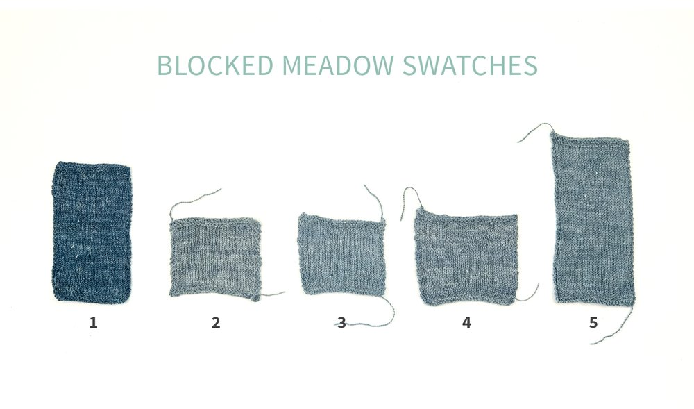 KW Swatch Experiment The Fibre Co. Meadow