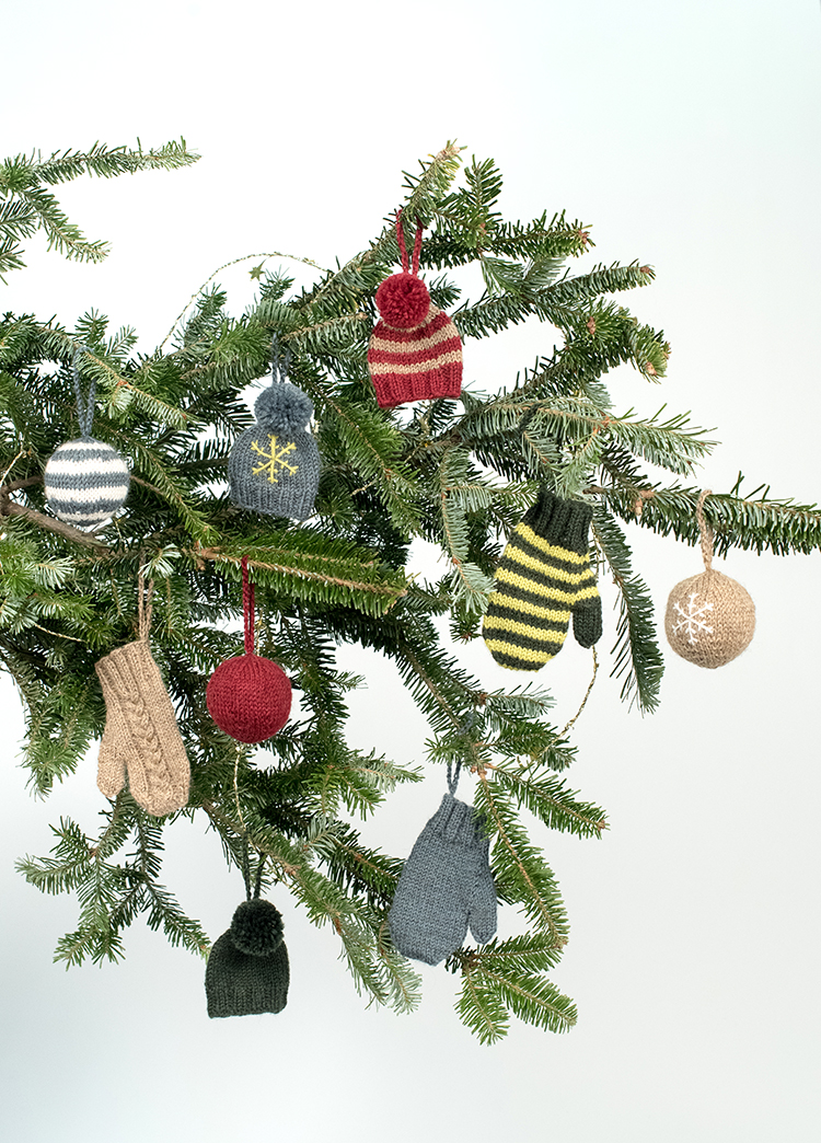 Free Pattern Kelbourne Woolens Holiday Cheer Ornaments