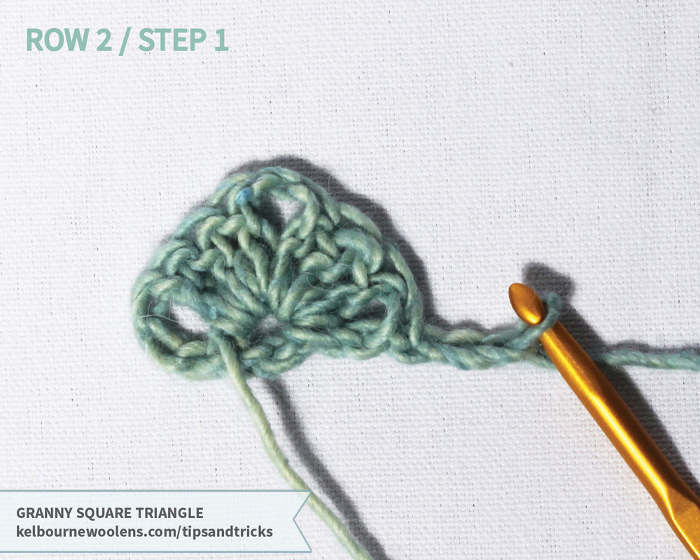 Kelbourne Woolens Tips + Tricks: Granny Square Triangle