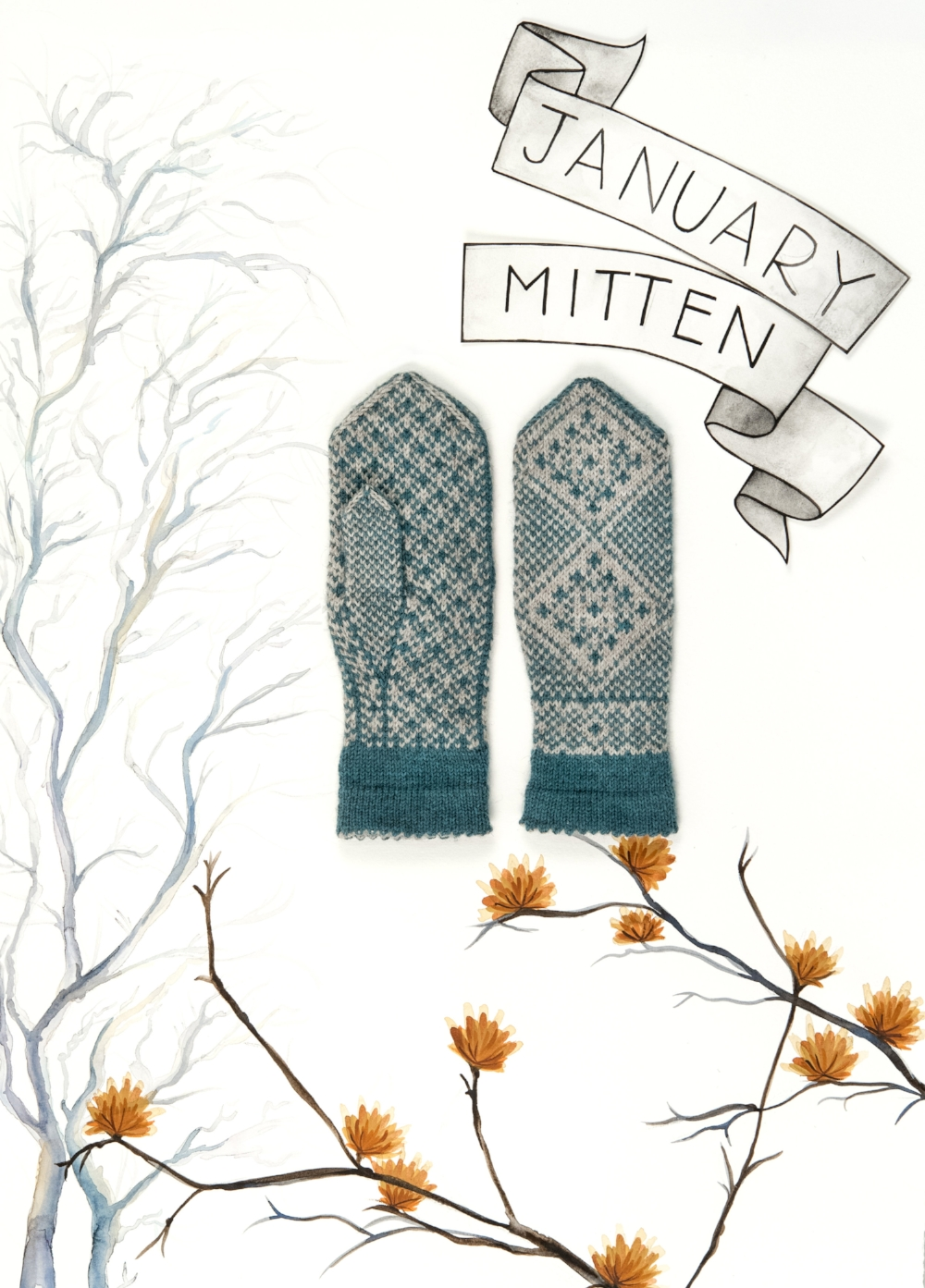 Year of Mittens January Mitten in The Fibre Co. Cumbria Fingering