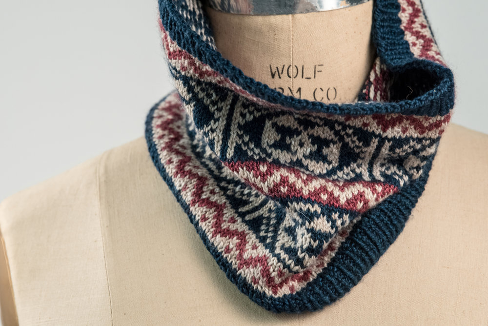 Courtney's Fair Isle Cowl