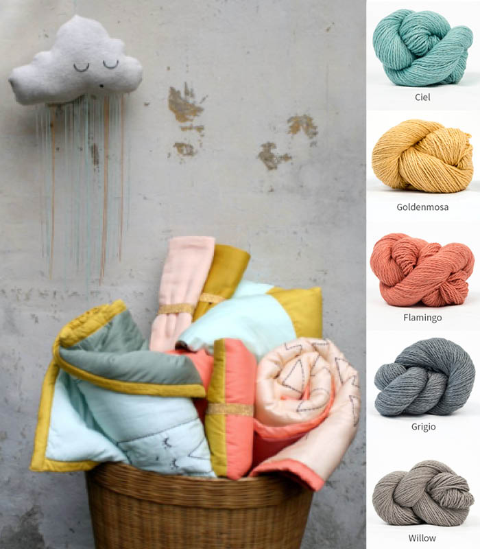 kelbourne woolens baby color stories in Luma