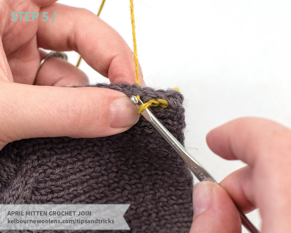 KW Tips and Tricks: April Mitten Crochet Join