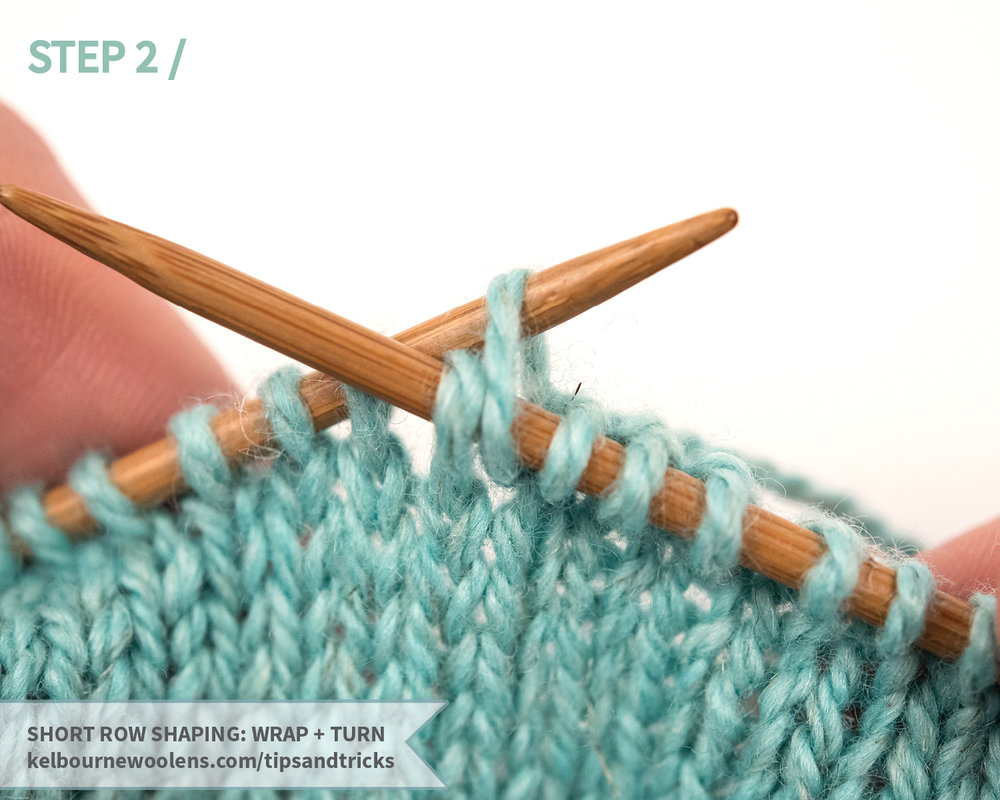 short row wrap + turn tutorial by Kelbourne Woolens