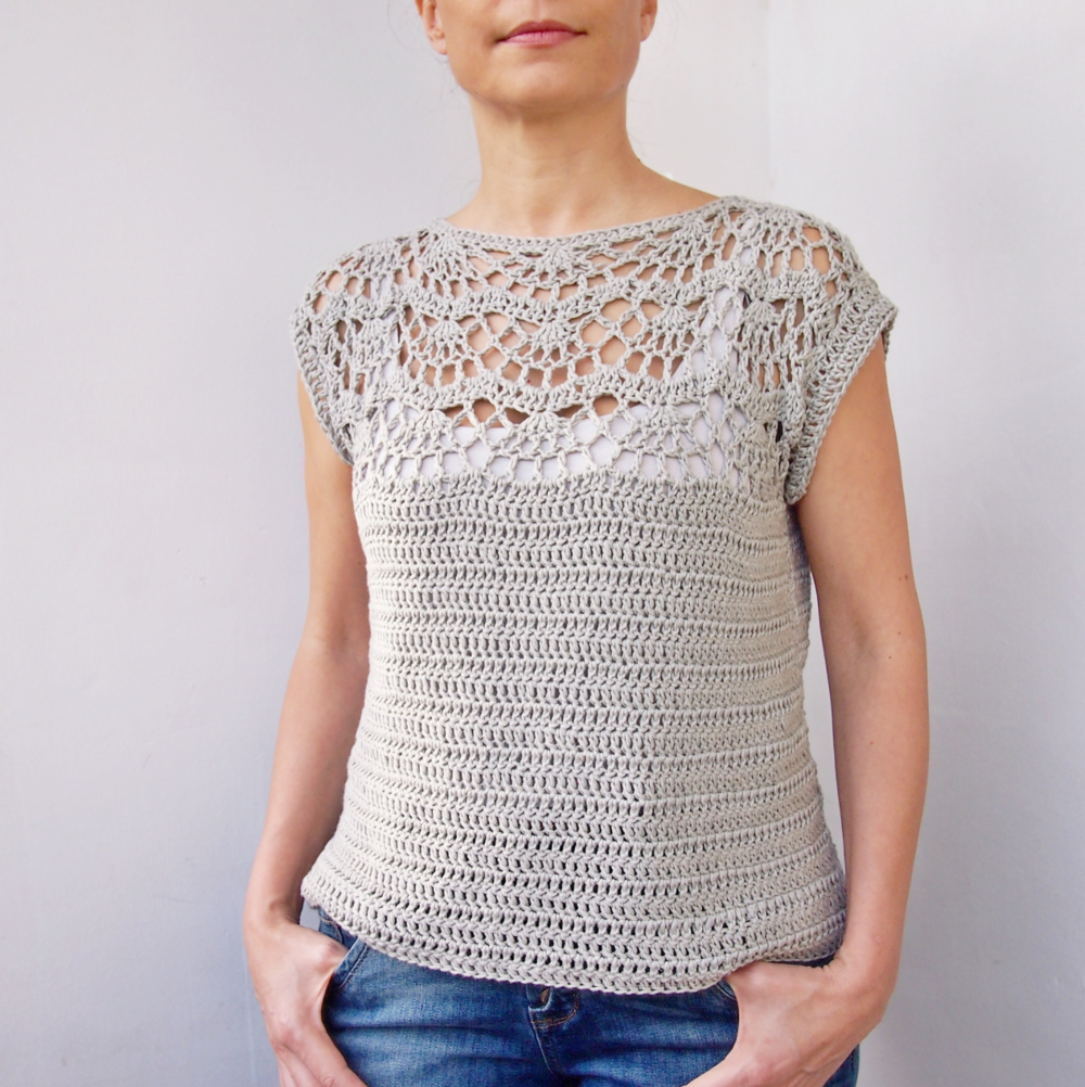 Pearl Shell Top by Ana D