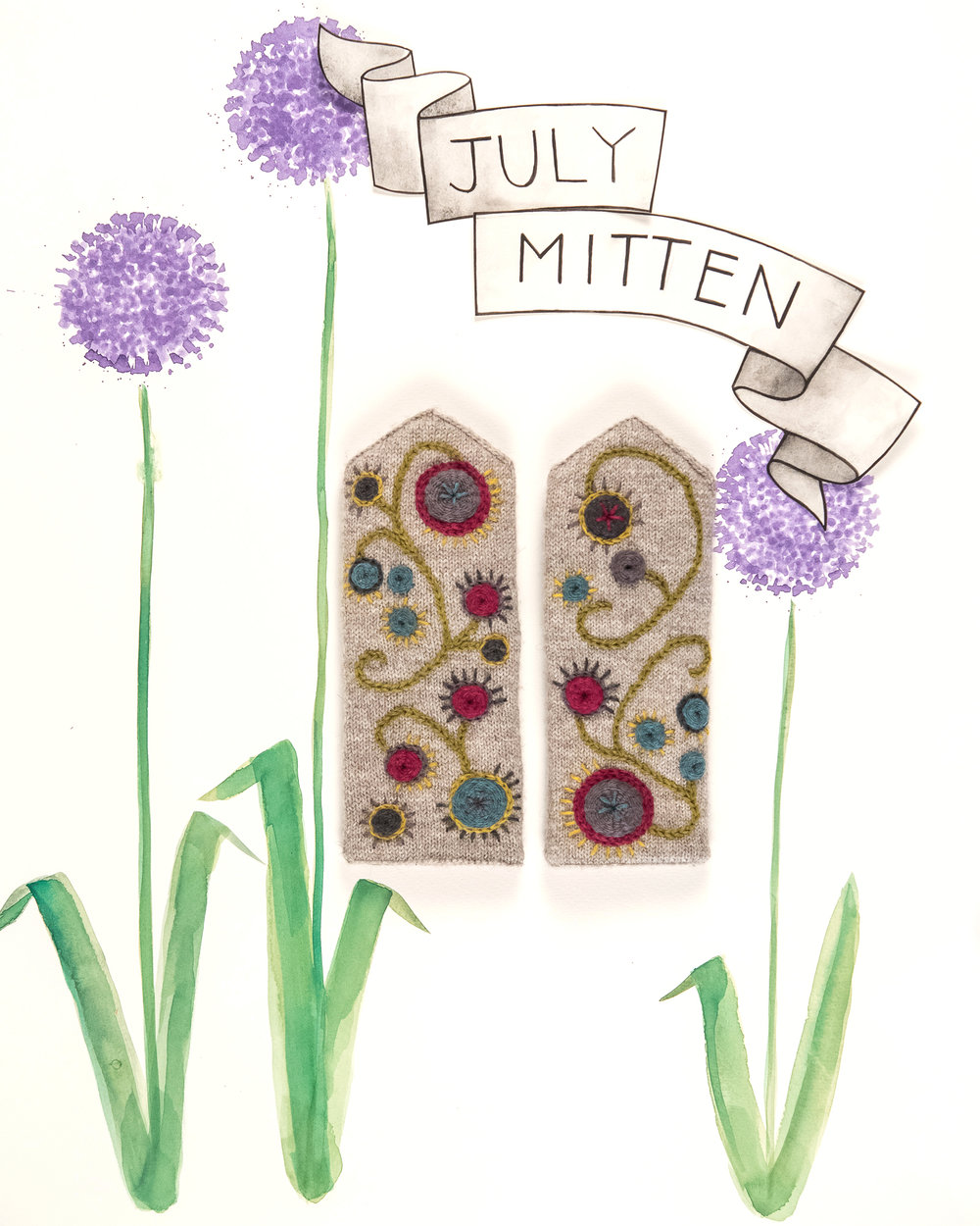 Kelbourne Woolens Year of Mittens July Mittens