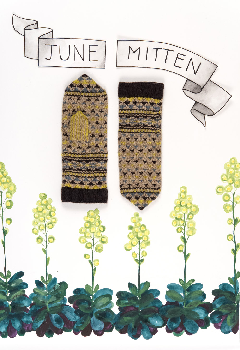 Kelbourne Woolens Year of Mittens June Mitten