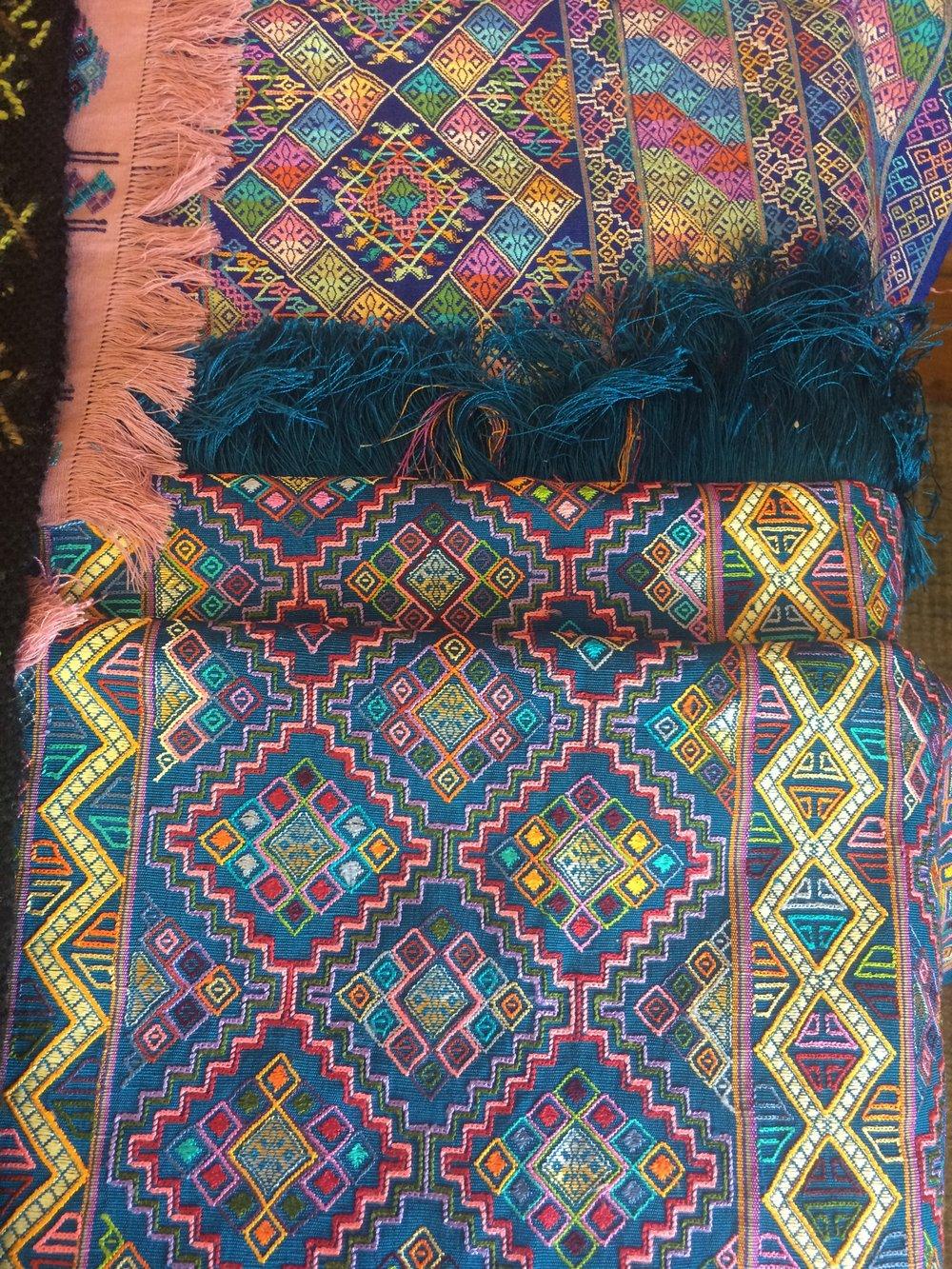 A few of Wendy Keele's Kushutara Samples