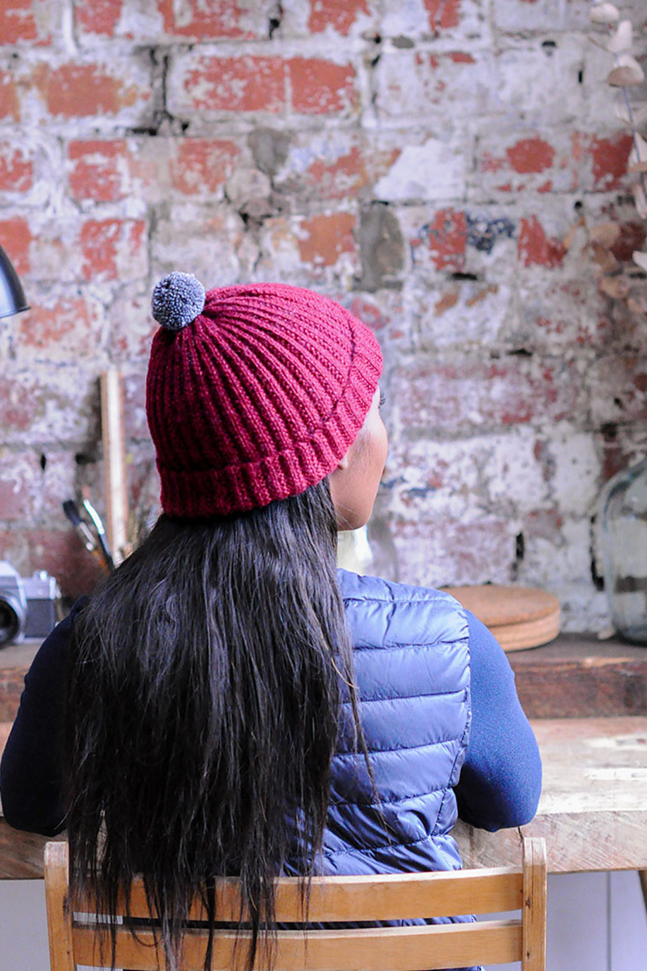 Mistake Stitch Rib Hat in The Fibre Co. Road to China Light