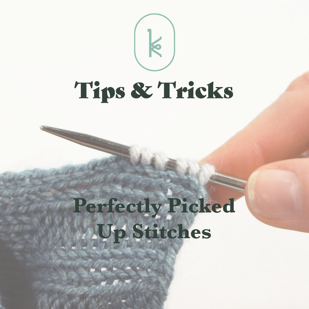 knitting tutorial picking up stitches
