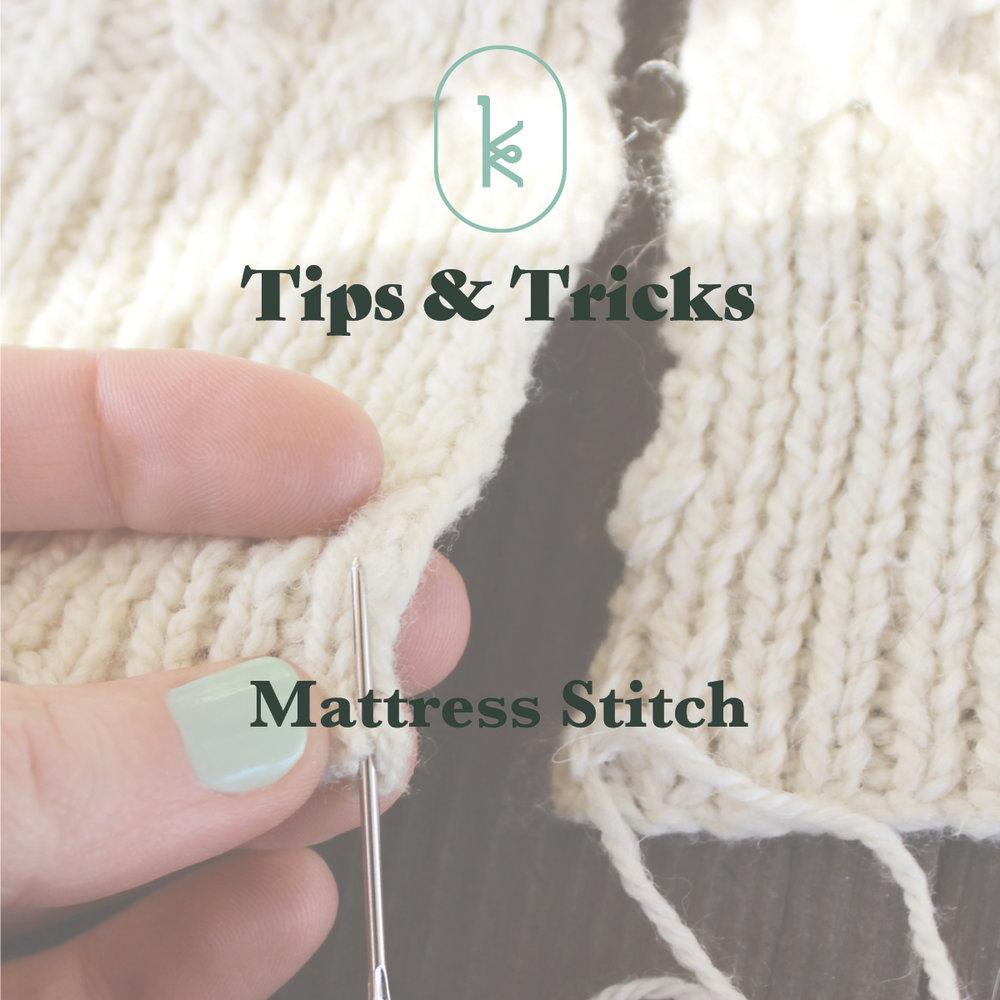 knitting tutorial seaming mattress stitch