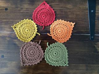 Leaf Coasters by Katherine Laight