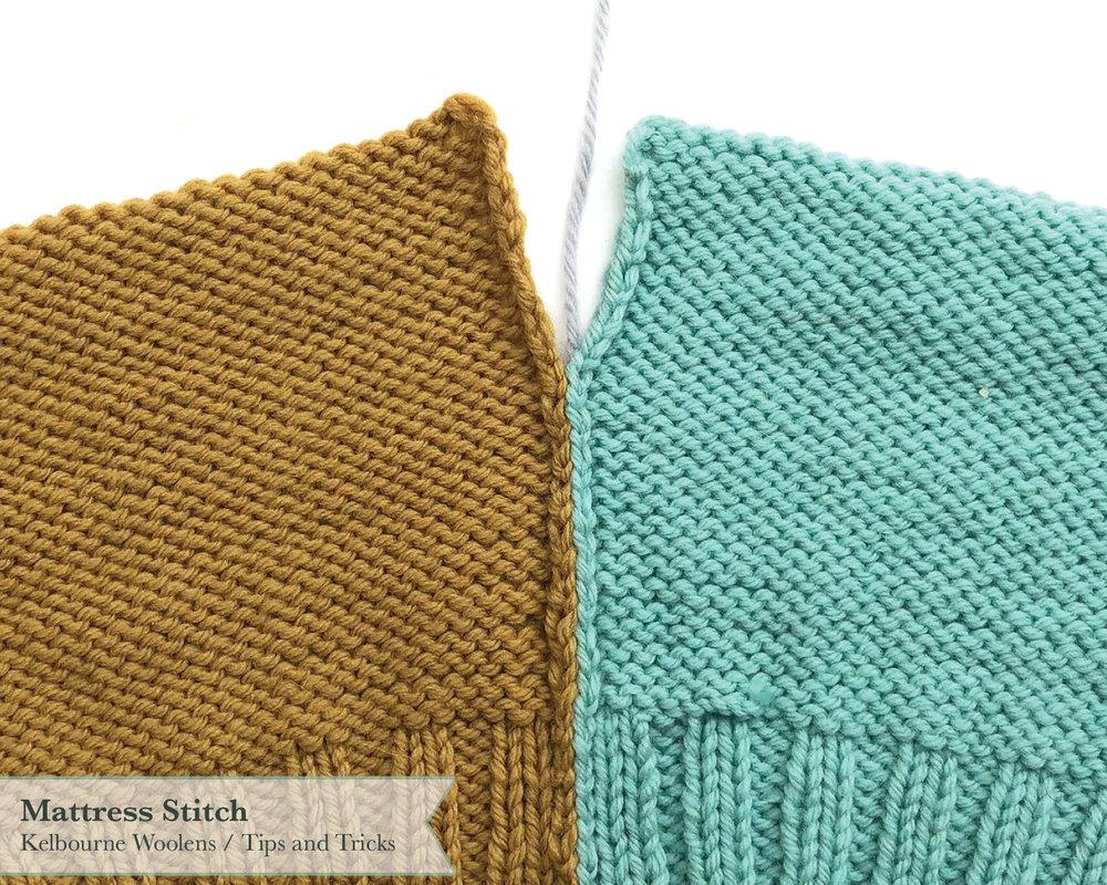Kelbourne Woolens Tips and Tricks: Mattress Stitch