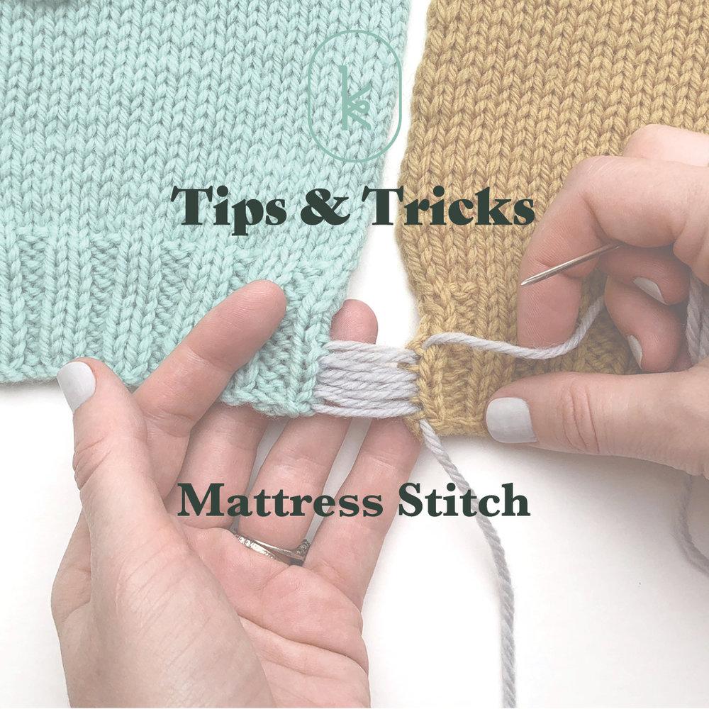 Kelbourne Woolens mattress stitch tutorial