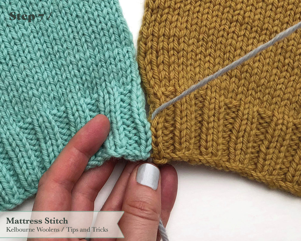 Kelbourne Woolens Tips and Tricks Mattress Stitch