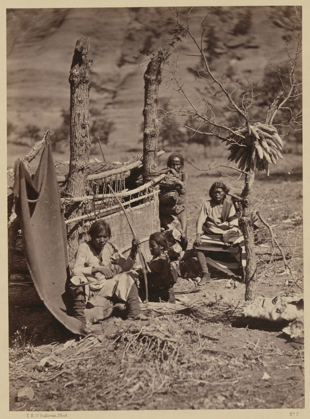 Aboriginal life among the Navajoe Indians.  Near old Fort Defiance, N.M. / Library of Congress / 1873, T. H. O'Sullivan.