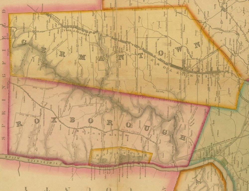 A Map of the County of Philadelphia from Actual Survey / 1843, Charles Ellet Jr.