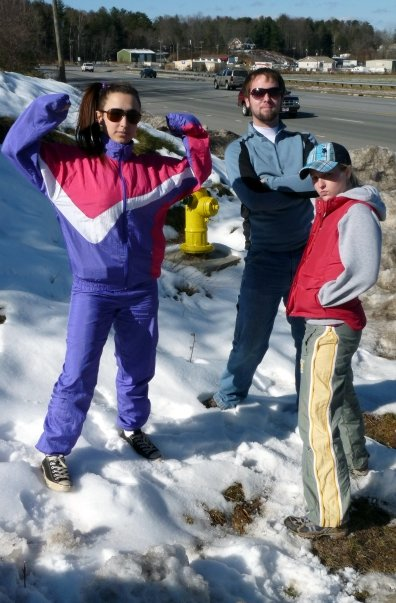 Searching for snow with comrades a few years back. We found this patch and delighted in it.