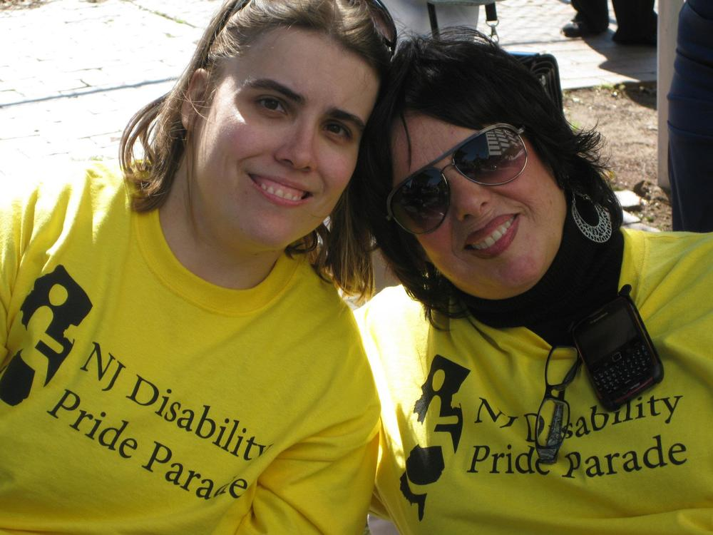 Colleen and Carole at NJ Disability Pride Parade 2011.