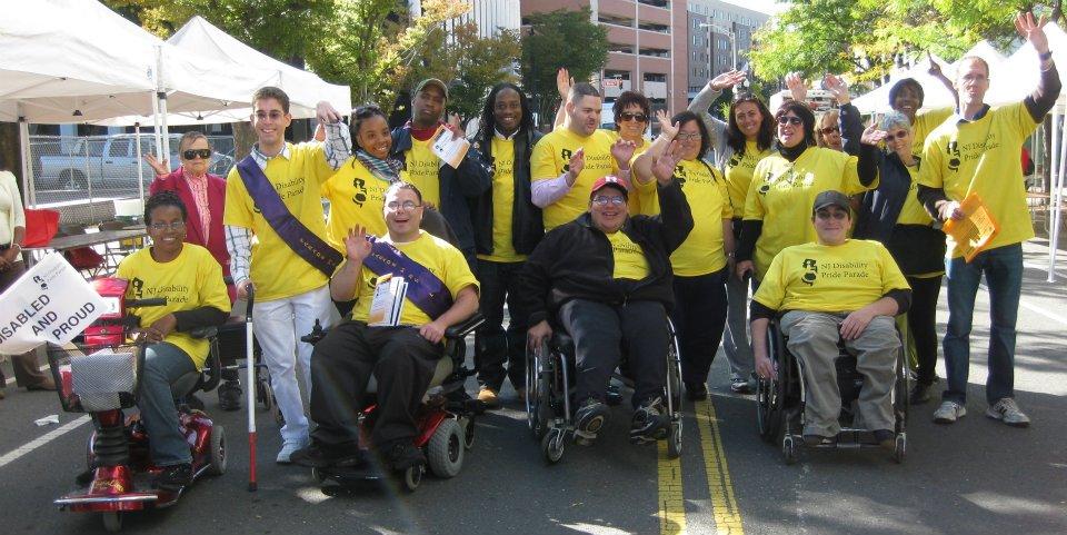 Group shot at NJ Disability Pride Parade.