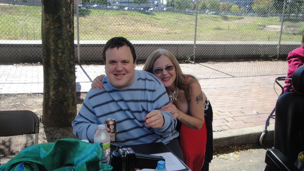 Jason and Lea at the NJ Disability Pride Parade.
