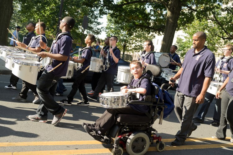 Burlington County Special Services School District Marching Band.
