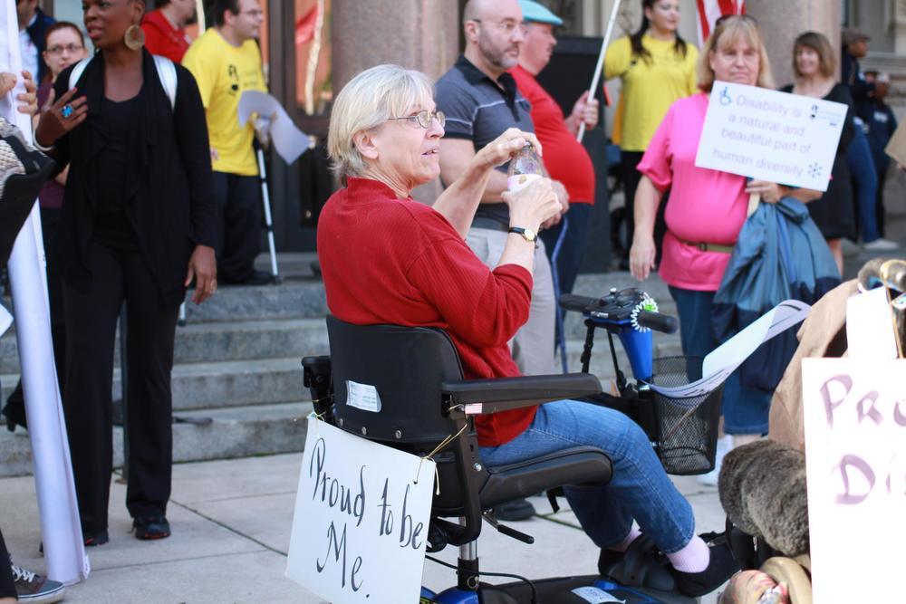 Kate Blisard at the NJ Disability Pride Parade.