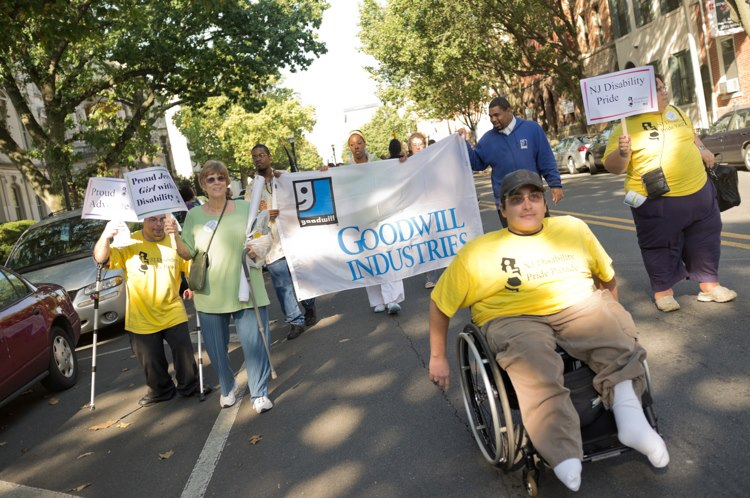 Goodwill Industries marches through Trenton for the The NJ Disability Pride Parade.