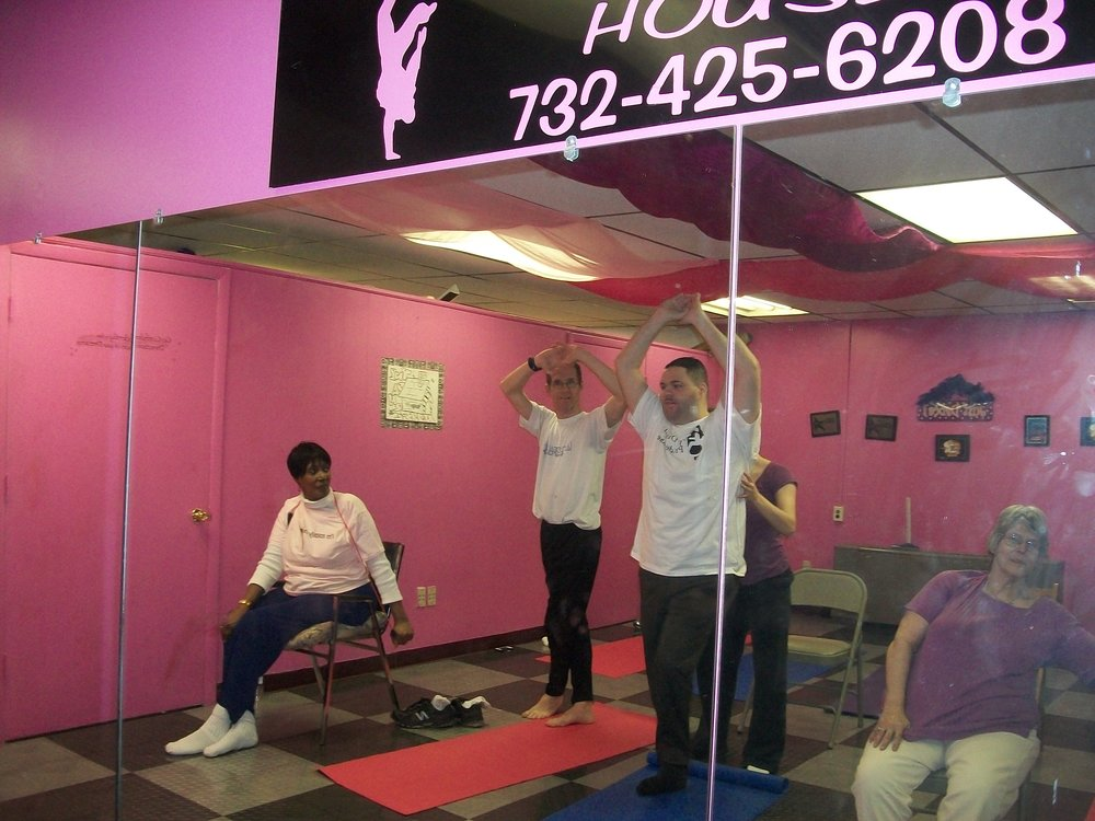 Yoga Class at Miss Joy's Dance House.