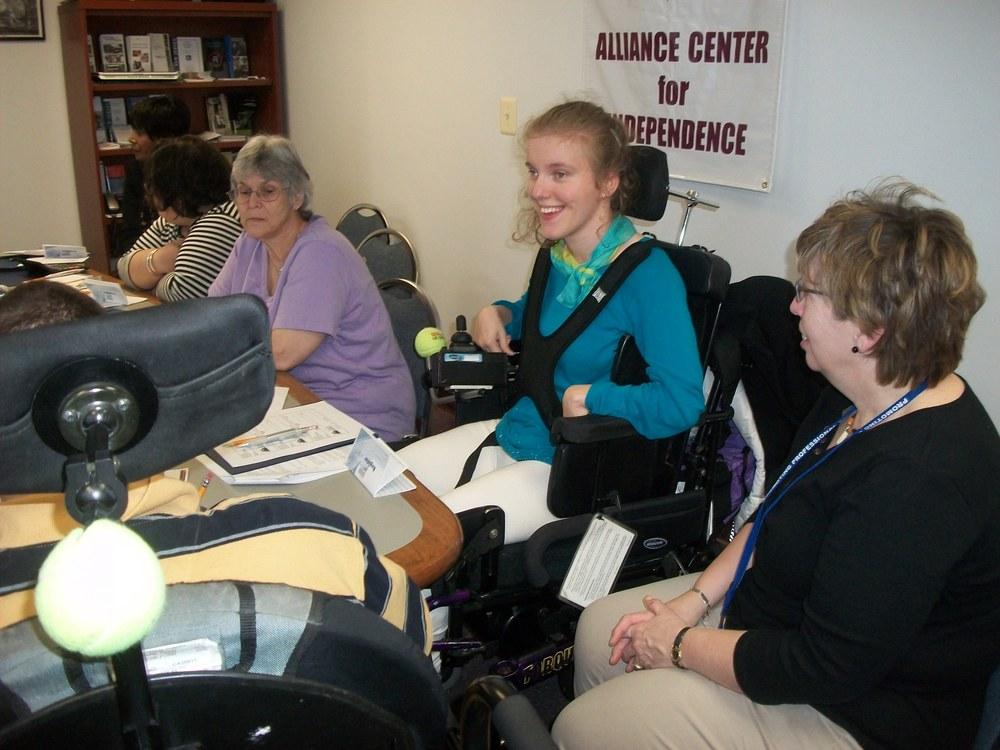 Volunteer Ashley Gomez participates in ACI's Career Track program.