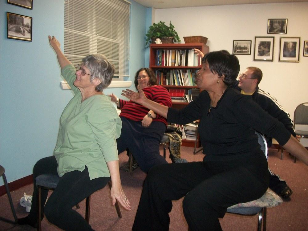 Adaptive Yoga Class.