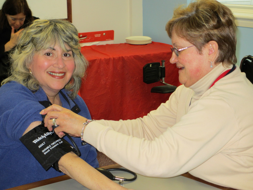 Edison Township Department of Health providing blood pressure screenings