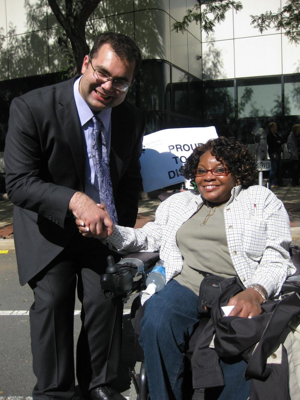 Ari Ne'eman and Diane Purnell at the NJ Disability Pride Parade.