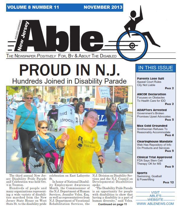 Able News cover story on NJDPP.JPG