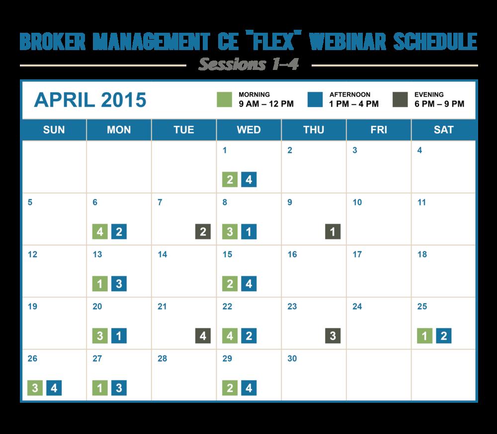 """Flex"" Program Calendar"