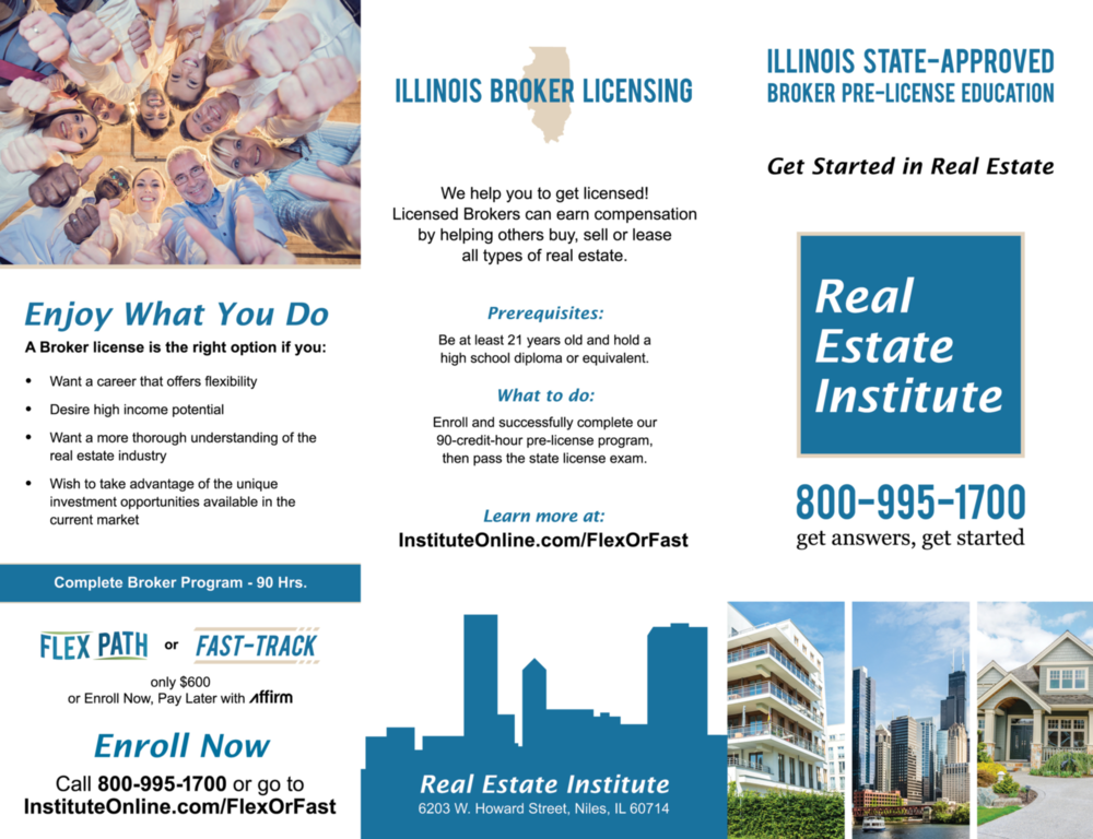 Real Estate Broker Brochure - Outside