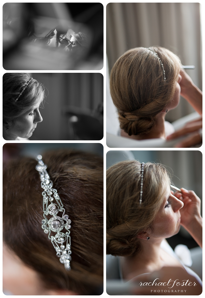 Bride getting ready at Lorien Hotel and Spa in Alexandria, VA