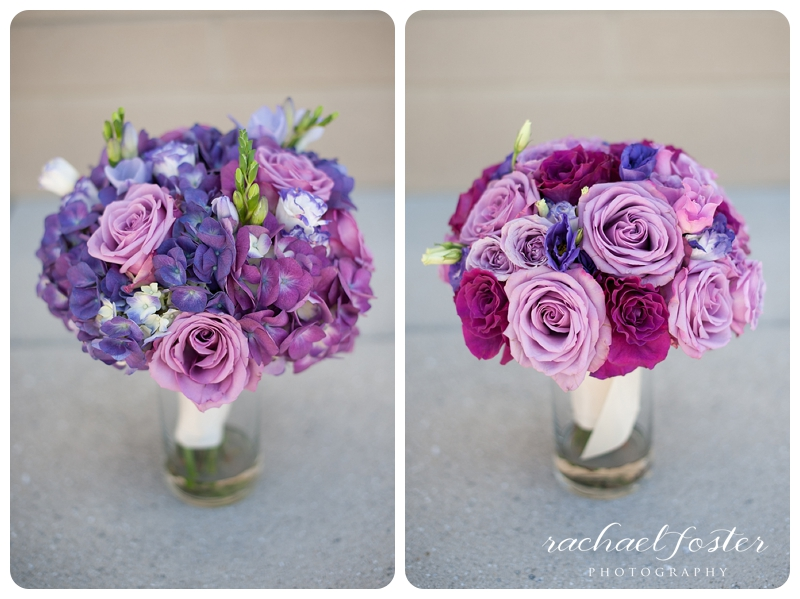 Gorgeous purple and pink bouquets at Lorien Hotel and Spa in Alexandria, VA