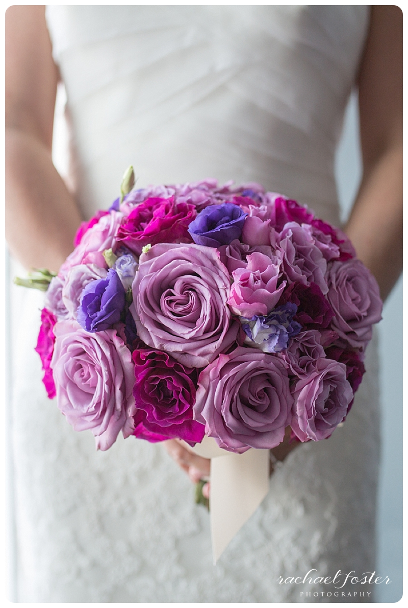 Bride's pink and purple bouquet