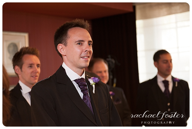 Groom sees bride for the first time at Lorien Hotel and Spa in Alexandria, VA