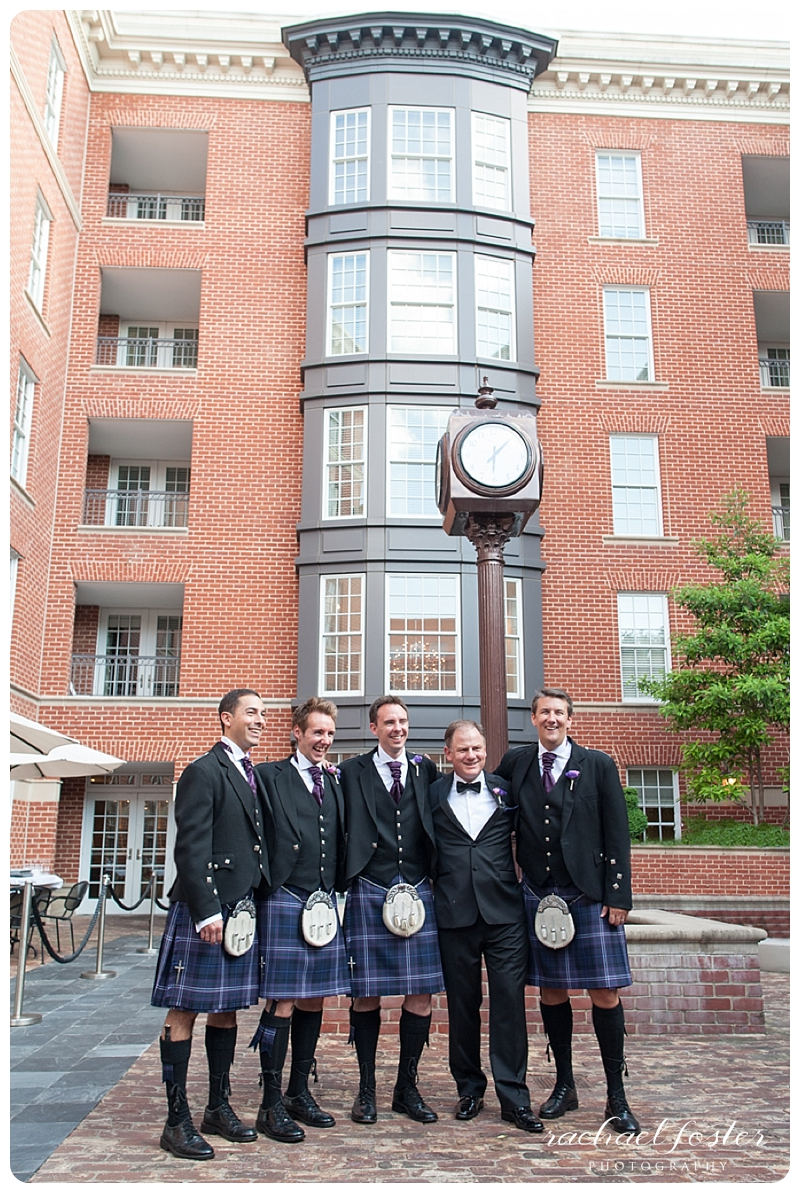 Scottish Wedding - Groomsmen in kilts
