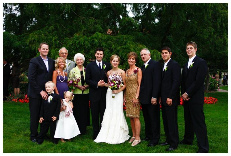 Grandma Marcia with my family on my wedding day