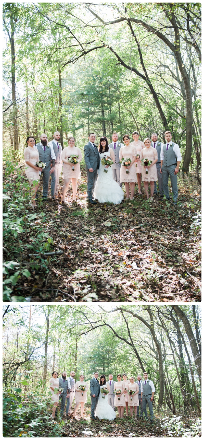 Backyard forest wedding in the Chicago suburbs by Rachael Foster Photography_0014.jpg