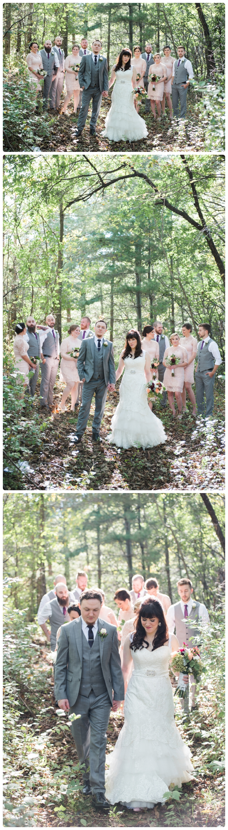 Backyard forest wedding in the Chicago suburbs by Rachael Foster Photography_0016.jpg