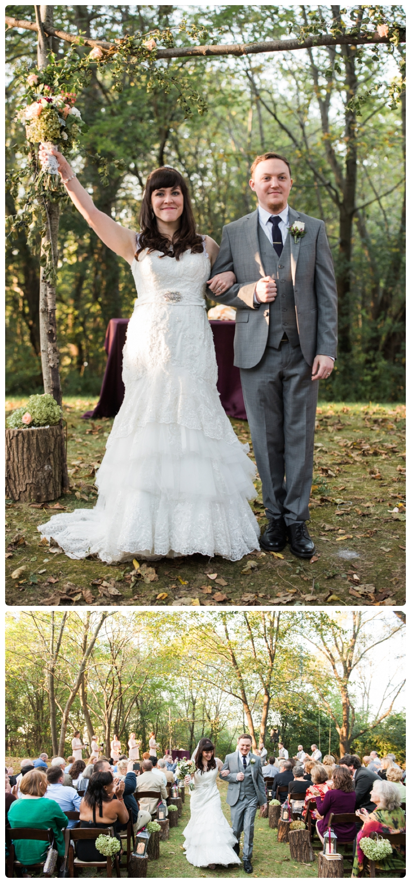 Backyard forest wedding in the Chicago suburbs by Rachael Foster Photography_0052.jpg
