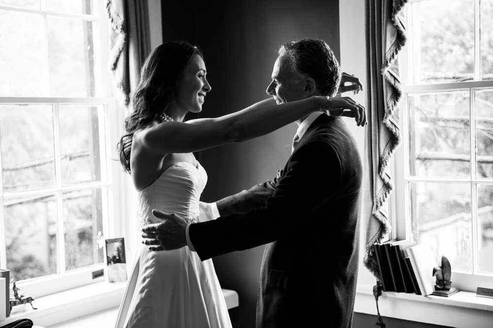 I absolutely love this image of a bride and her father seeing each other for the first time on her wedding day. There was so much emotion in this photo that I thought it looked best in black and white. Sometimes simplicity is the best way to capture the feelings of a moment.
