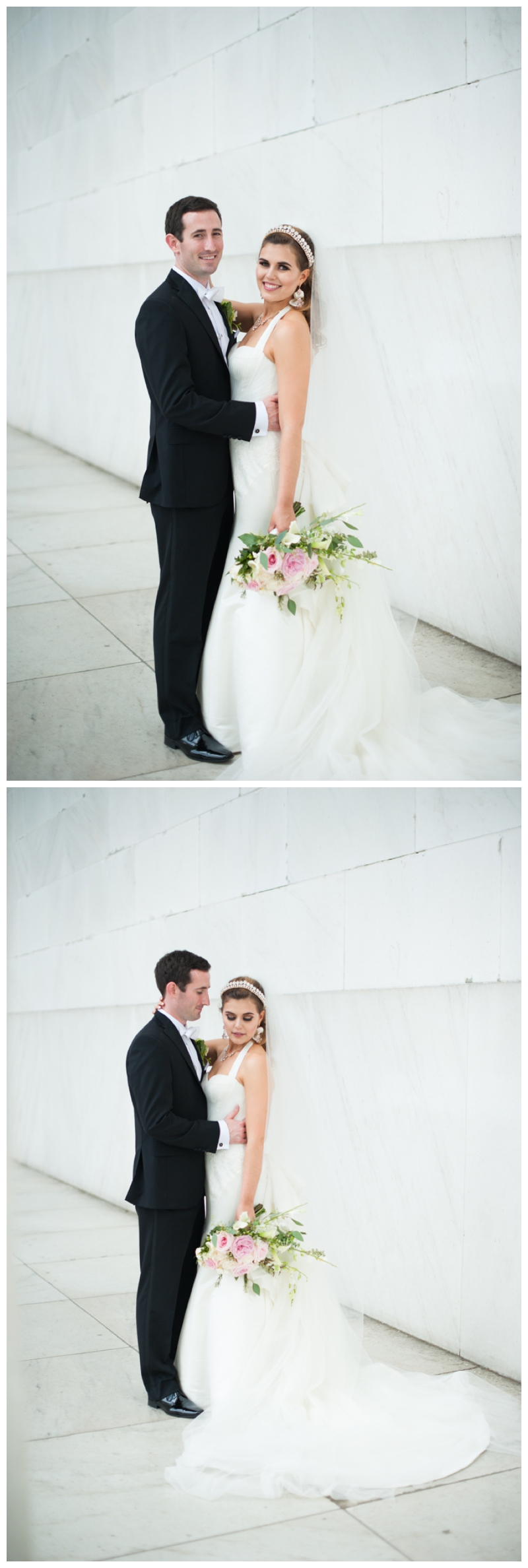 DC Wedding Day Portraits of Bride and Groom at the Lincoln Memorial by Rachael Foster Photography_0043.jpg